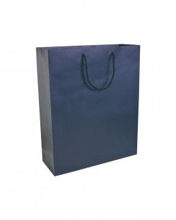 Sacchetto in carta laminata opaca con base rinforzata