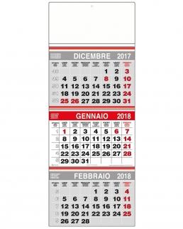 Calendario Trittico Trimestrale Tris