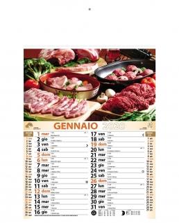 Calendario Carne 12 fogli