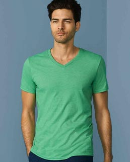 T-shirt con scollatura a V Gildan Soft Style