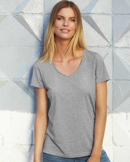 T-shirt donna scollo a V Triblend
