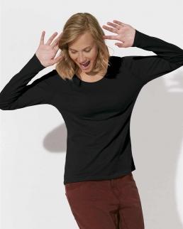 T-shirt bio a scollo ampio con maniche lunghe Jokes