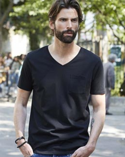 T-shirt con scollo a V Luxury Pocket