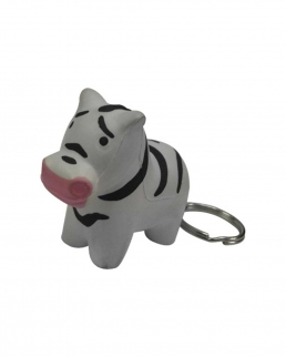 Portachiavi antistress Zebra