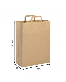Shopper di carta con maniglia piatta colore naturale