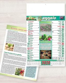 Calendario olandese illustrato Orto e Giardino