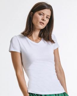 T-shirt donna scollo a V Pure Organic