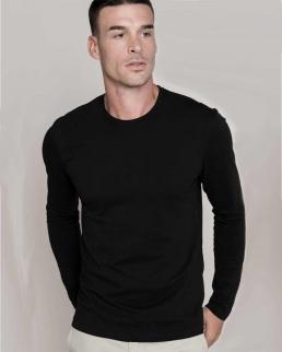 T-shirt manica lunga scollo a tondo