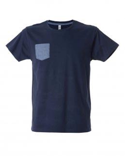 T-shirt uomo girocollo con taschino Antibes