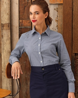 Camicia a maniche lunghe da Donna Microcheck (Gingham)