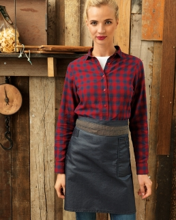 Division Waxed Look Denim Waist Apron (Donna)
