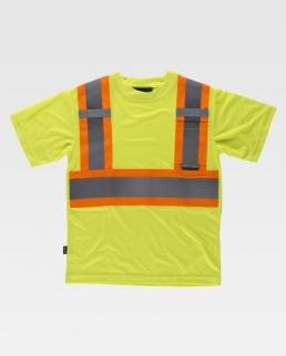 T-shirt riflettente-fluorescente