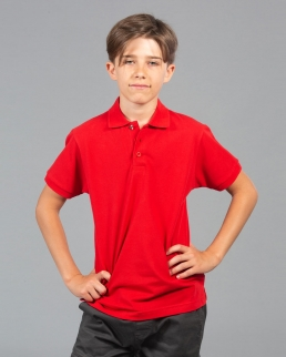 Polo bambino con bottone con tricolore italiano Colombia boy