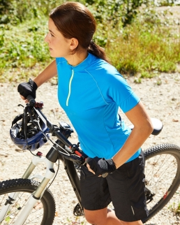 T shirt donna biking mezza zip