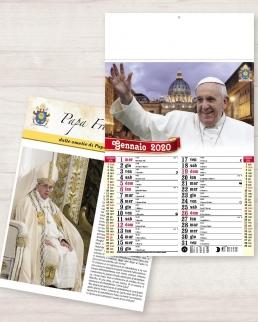 Calendario olandese illustrato Papa Francesco
