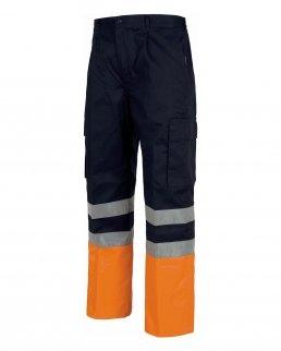 Pantalone bicolore multitasche alta visibilità