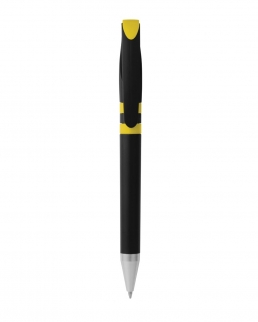 Penna a sfera con chiusura a rotazione