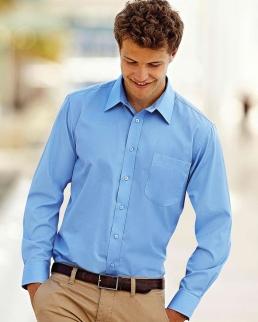 Camicia uomo in popeline maniche lunghe