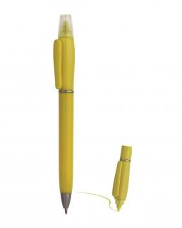 Penna a sfera con evidenziatore