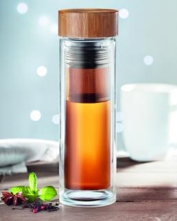 Borraccia con doppio strato in vetro borosilicato 420 ml