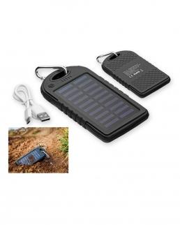 Power bank 5000 mAh con pannello solare e torcia a LED