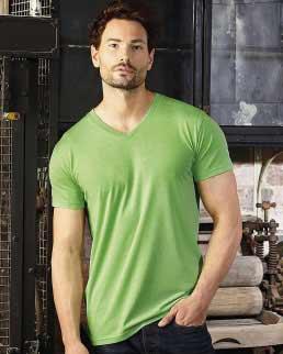 T-shirt uomo HD taglio slim scollo a V