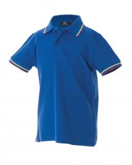 Polo bambino con tricolore su colletto e fondo manica Aosta Boy