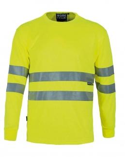 T-shirt alta visibilità maniche lunghe Classe II