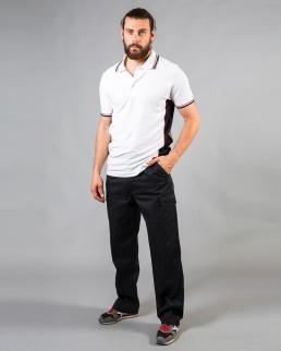 Pantalone multitasche polyestere/cotone