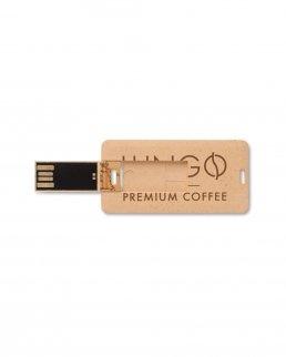 Chiavetta USB piatta 4 Gb in paglia e PP