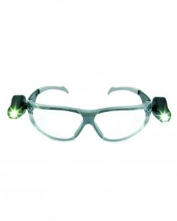 Occhiali di sicurezza con 2 luci LED