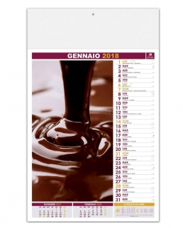 Calendario illustrato Dolci e piaceri