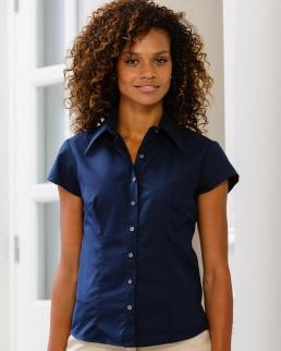 Camicia donna Tencel attillata maniche corte