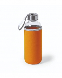 Bottiglia in vetro con custodia in neoprene 500 ml