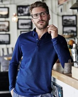 Polo Fashion long Sleeve Luxury Stretch - Uomo
