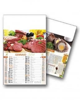 Calendario Carne Cruda Trimensile 12 fogli