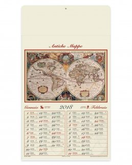 Calendario bimensile Antiche Mappe