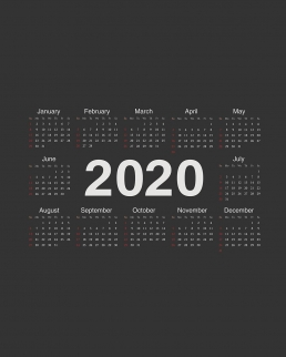 Calendario da parete foglio unico cm 29,7x42