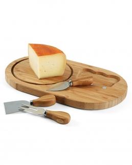 Tagliere per formaggi 3 posate
