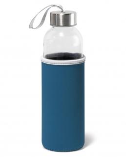 Borraccia sportiva in vetro con custodia 520 ml