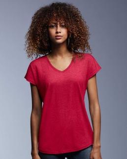 T-shirt donna Tri-Blend con scollo a V