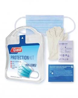 kit protezione con  gel mani