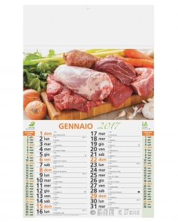 Calendario olandese illustrato Carne