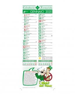 Calendario silhouette Farmacia 12 fogli