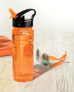 Bottiglia con cannuccia pieghevole 600ml