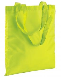 Shopper fluo in poliestere con manici lunghi