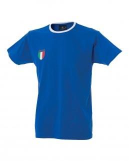 T-shirt uomo girocollo Santos con Scudetto Italia sul petto