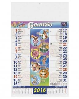 Calendario olandese illustrato Cabala
