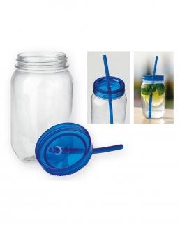 Bottiglia di plastica con paglia 550 ml