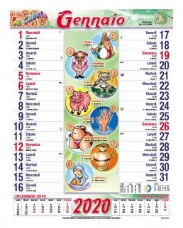 Calendario Cabala 12 fogli